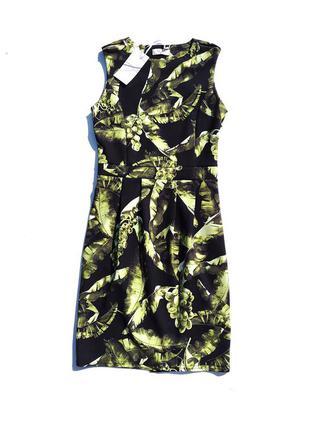 Облегающее чёрное разноцветное платье с лимонным принтом винограда fifilles франция