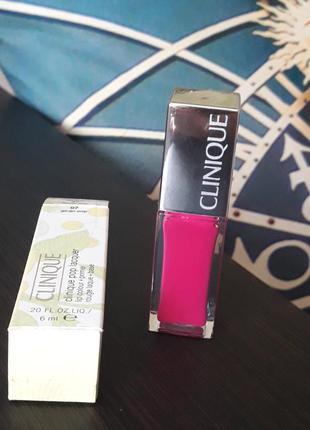 Помада лак для губ оригинал  clinigue pop lacguer lip color