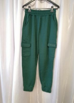 Штаны на флисе  missguided  цвет:  зелёный  размер:  38/m/46 onesize замеры