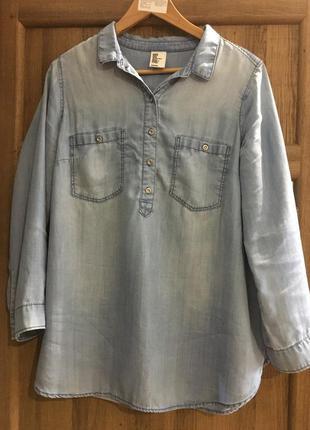 Джинсова рубашка для вагітних h&m mama для беременных