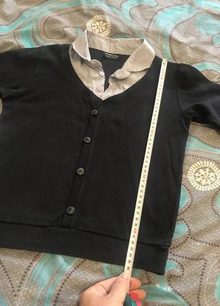 Школьная х/б рубашка обманка, реглан до р. 146