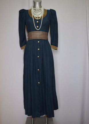 Винтаж, платье диндрл, октоберфест, платье этно длинное льняное