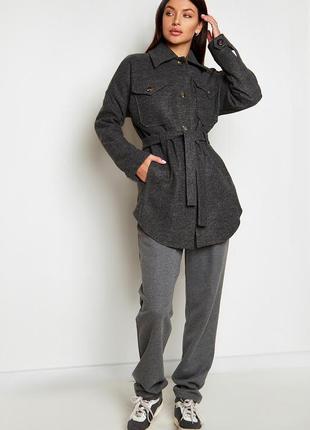 Облегченное пальто мираж графит jadone fashion