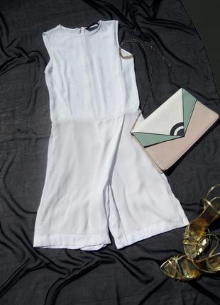 Ромпер zara комбинезон с шортами белый с карманами