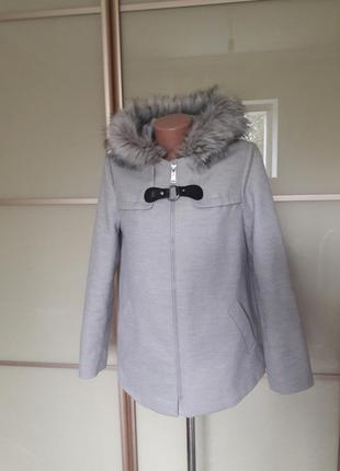 Пальто с искуственным мехом primark