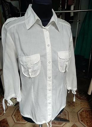 Хлопкова натуральна блуза, рубашка