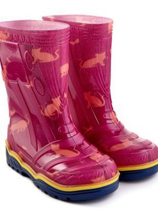 Детские резиновые сапоги 23-35 гумові чоботи резинові