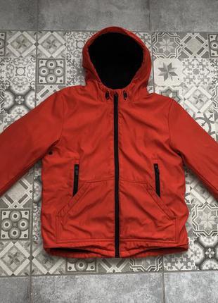 Демисезонная тёплая курточка на мальчика 11-12 лет (146-152 см)