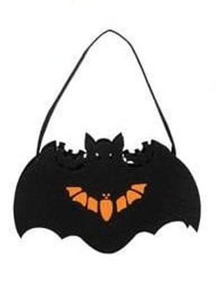 Фетровая сумочка летучая мышь halloween хэллоуин