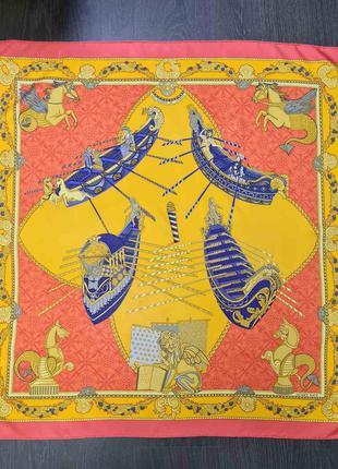 Шёлковый платок hermes les bissone de venice оригинал