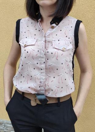 Блуза щ фламінго