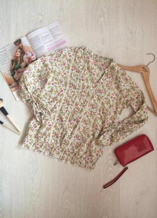 Очень нежная и легкая блуза в цветы