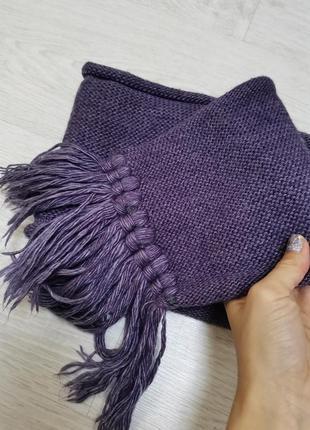 Вязаный шарф, тёплый шарф