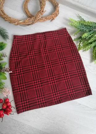 Спідниця у шотландську клітинку юбка в шотландськую клетку для новогодней фотосессии
