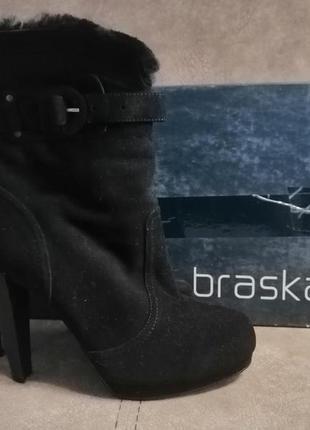 Замшевые ботильйоны braska 40