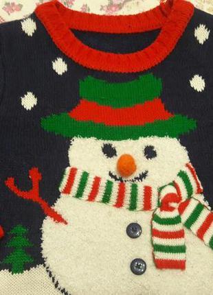 Новогодний свитер на 4-6 лет