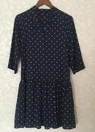 Платье синее 10 м markspencer