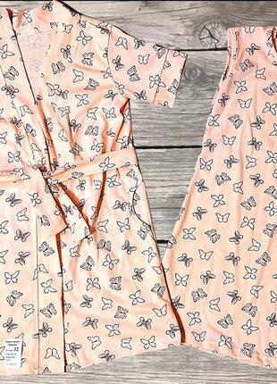 """Детский набор халат, ночная рубашка и поясок """"бабочки"""""""