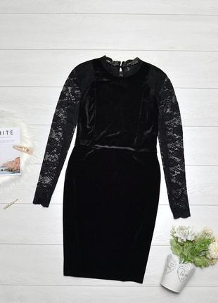 Красиве бархатне плаття з кружевом only.