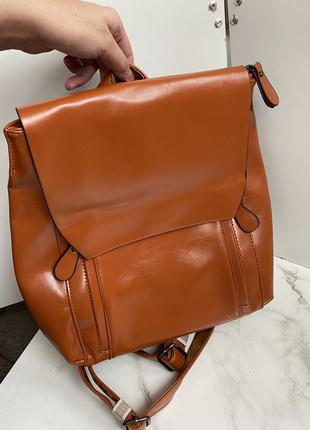 Стильний рюкзак рижий