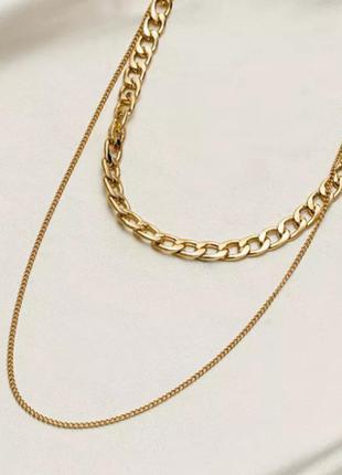 Многослойная цепочка крупная цепь подвеска колье чокер ожерелье ланцюжок