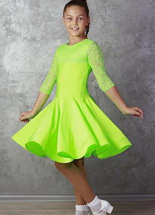 Рейтинговое платье бейсик плаття сукня для танцев размер 32 для девочки 9-10 лет