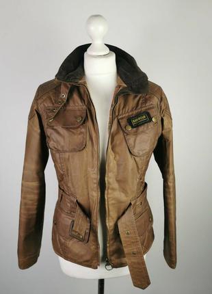 Куртка barbour international biker wax jacket (m)