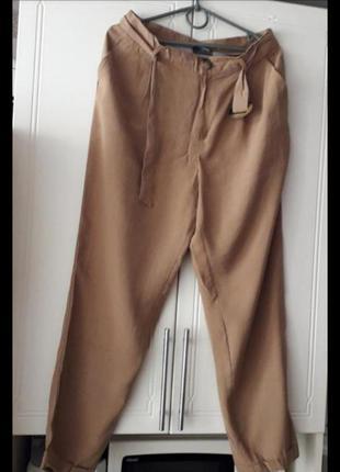 Классические брюки на высокой посадке на поясе