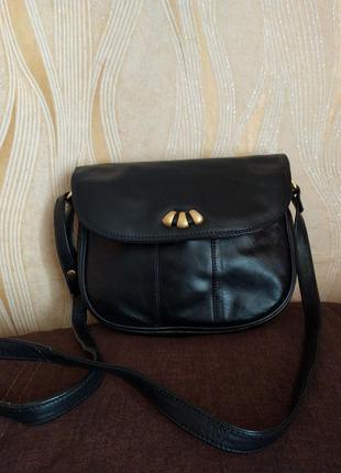 Черная кожаная сумка jane shilton
