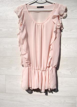 Красивая нежная розовая летняя блуза с рюшами atmosphere