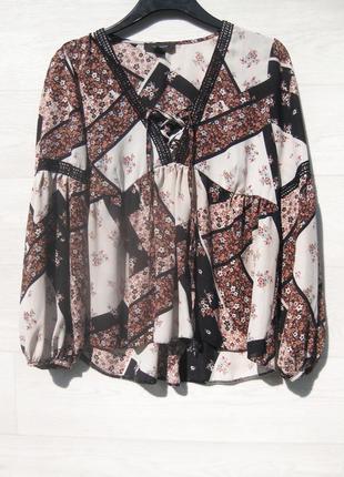 Очень классная стильная свободная блуза atmosphere с рукавом марокко