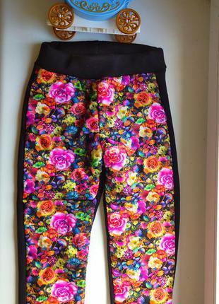 Очень красивые штаны лосины на флисе