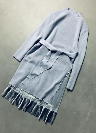 Вязаное платье миди комплект