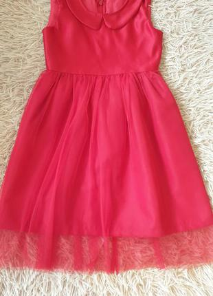 Платье на девочку красное нарядное
