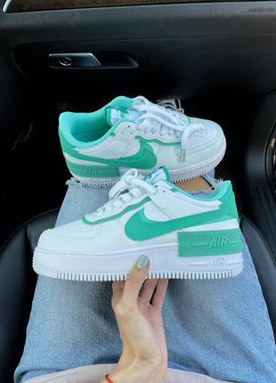 Nike air force shadow white green