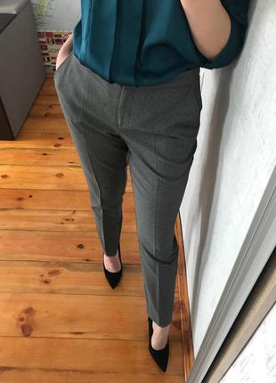 Штаны в клеточку классические брюки серые повседневные брюки atmosphere