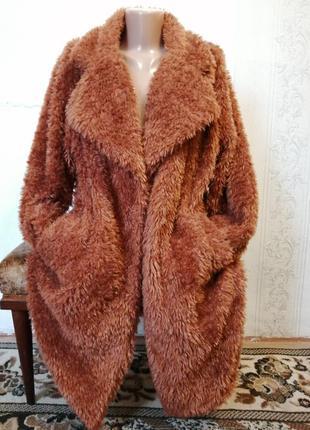 """Пальто """"тедди"""" (пог 64),большой размер"""