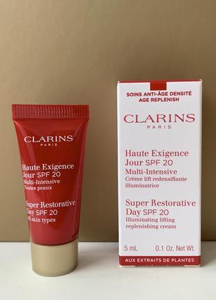 Clarins super restorative дневной крем 5 мл пробник