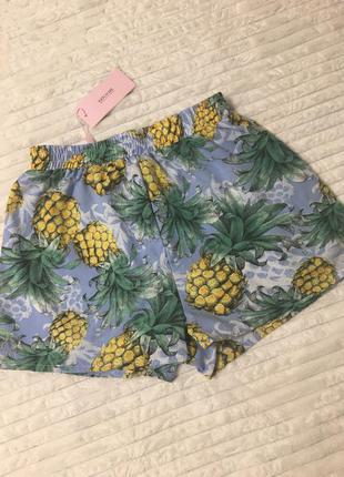Шорты голубые с ананасами рм katch me