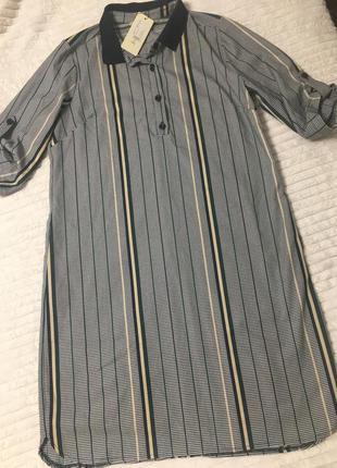 Стильное женское платье гусиные лапки полоска турция люкс р52 укр