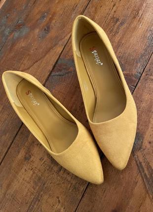 Туфли екозамш