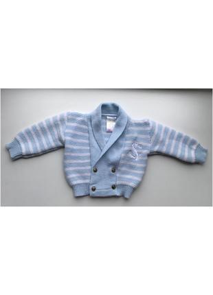 Вязаный детский свитер кардиган кофта