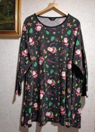Женская пижама большого размера футболка большого размера