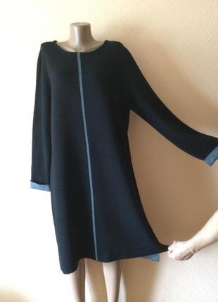 Стильное трикотажное  ассиметричное платье от christian berg. германия.
