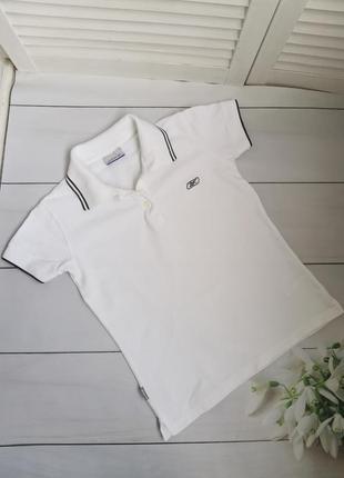 Белое поло, футболка размер с reebok оригинал