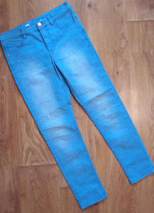 Джинсы голубые детские h&m штаны на рост 146см., 10-11лет.