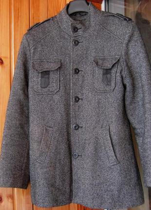 Пальто однобортное с воротником-стойкой zirano - р. 48
