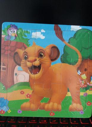 Пазл деревянный король лев