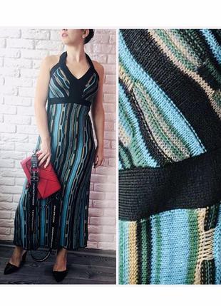 Вязаный длинный сарафан платье 👗