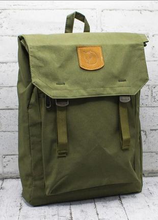 Рюкзак хакки fjallraven foldsack no 1, спортивный, темно зелёный, портфель  фялравен темно зелений, хаккі, спортивний, туристичний, канкен, kanken